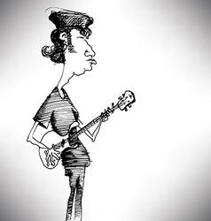 Bass player cartoon vector