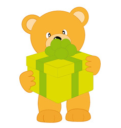 bear with gift vector image