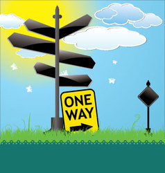 Blank Directional Sign vector image