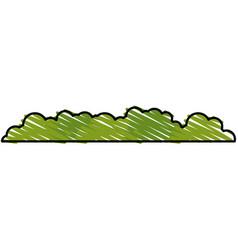 Bush landscape isolated icon vector