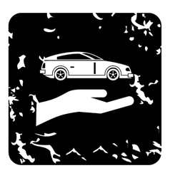 Car insurance concept icon grunge style vector