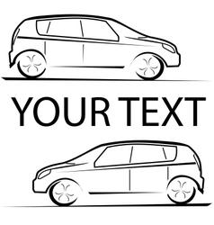 Car racing auto logo vector image