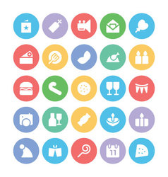 Celebration and party icons 9 vector