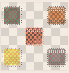 Chess game start set vector