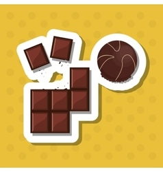 colorful chocolate design vector image vector image