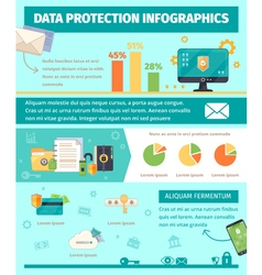 Data Protection Internet Security Infographic vector image