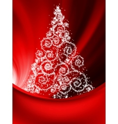Elegant christmas tree background vector image