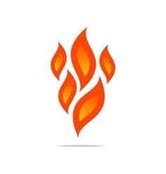 flame fire design luxury logo design vector image vector image