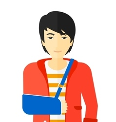 Man with broken arm vector