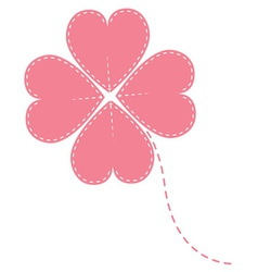 Pink clover four leaf vector