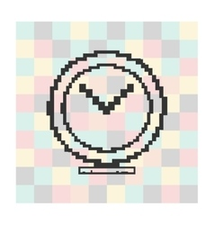 pixel icon megaphone on a square background vector image
