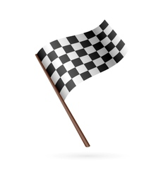 Race flag icon vector
