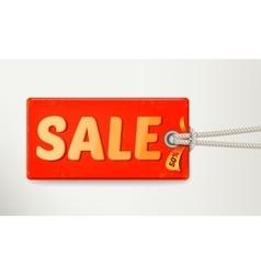 Sale tag design vector image vector image
