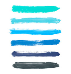 set of turquoise blue indigo black watercolor vector image vector image