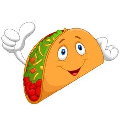 Taco cartoon giving thumb up vector