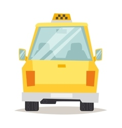 Taxi yellow car flat style vector image vector image