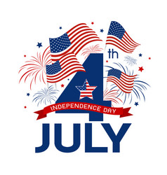 usa 4 july independence day design vector image vector image