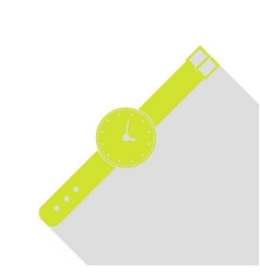 Watch sign pear icon with flat style vector