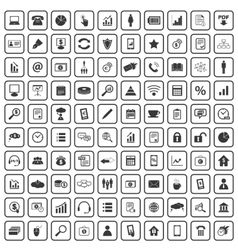 100 office icons set vector