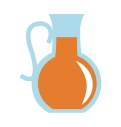 Glass pitcher with beverage icon vector
