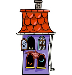 Haunted house cartoon vector