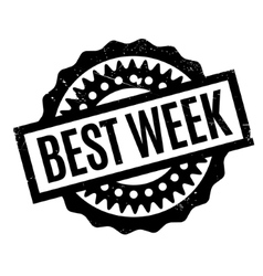 Best week rubber stamp vector