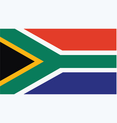 south africa flag for independence day and vector image