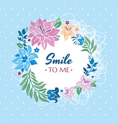 Smile to me gift card vector