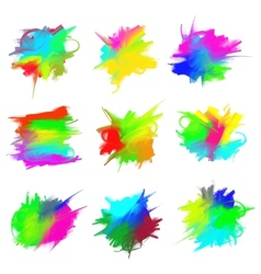 Blots of paint vector