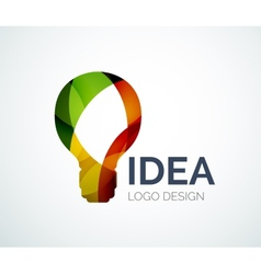 Light bulb logo design made of color pieces vector