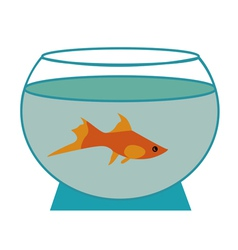 Small fish in an aquarium vector