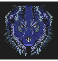 Wolf blue vector