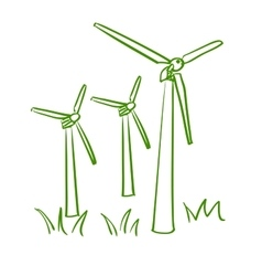 Doodle windmill vector