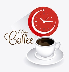 Coffee time design vector