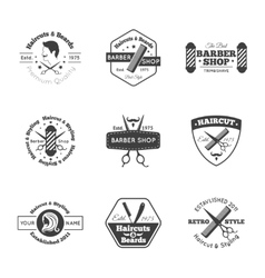 Hairdress logo set vector