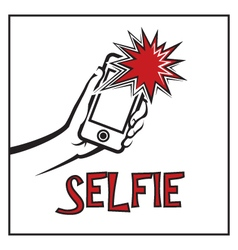 Selfie icon vector