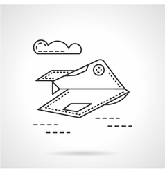 Unmanned aerial robot line icon vector