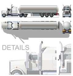 detailed tanker truck vector image