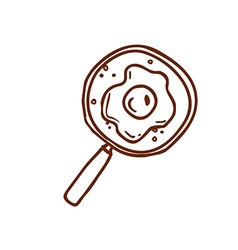 Hand drawn magnifying glass vector