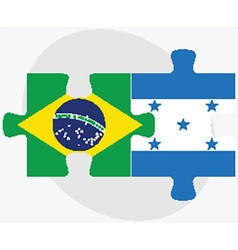 Brazil and honduras flags vector