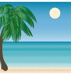 Palm beach horizon tourism journey sea vector