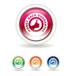 Guarantee buttons vector