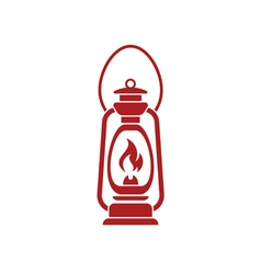 Antique old kerosene lamp vector