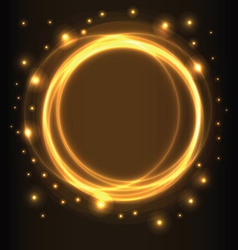 Abstract background glowing circles vector image vector image