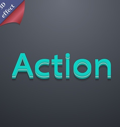 Action icon symbol 3D style Trendy modern design vector image