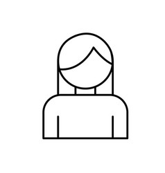 avatar woman icon vector image vector image