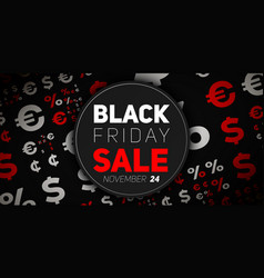 badge with black friday sale vector image vector image