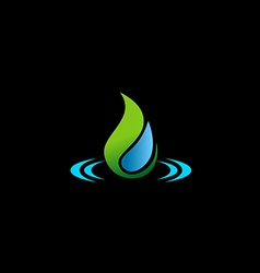 bio water drop ecology logo vector image vector image