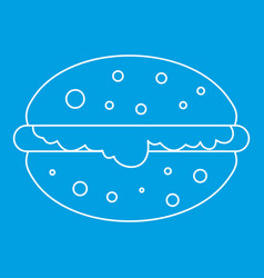 burger icon outline vector image