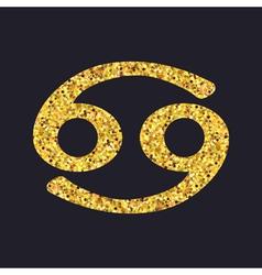 canceri gold vector image